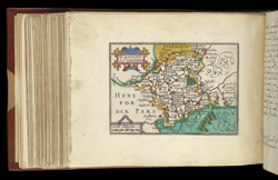 Map of Worcestershire, from Atlas of the British Isles, Pieter Van Den Keere